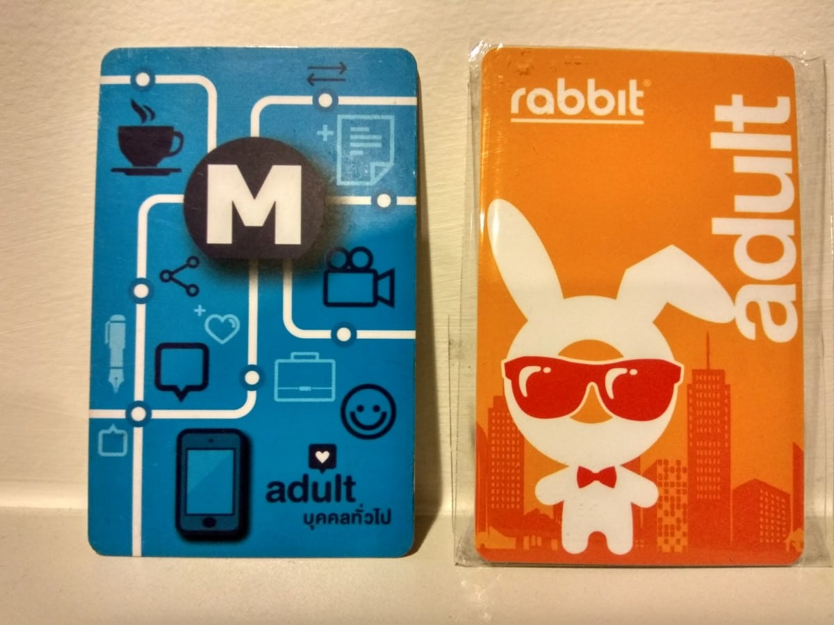 BTS Rabbit Card & MRT Blue Card