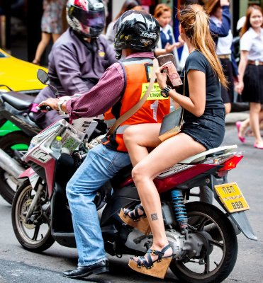 Motorbike Taxis in Thailand