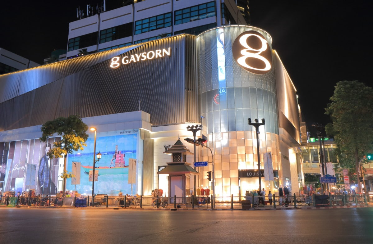 Gaysorn shopping mall in Chitlom, bangkok